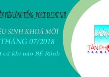 Chiêu sinh Lớp Học Lồng Tiếng Nhí Tháng 07/2018